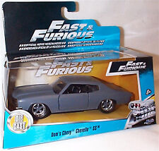 Fast & furious dom's chevy chevelle ss matt gris 1-32 mint boxed new
