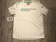 ☕Puma Mercedes Benz FORMULA ONE TEAM AMG Petronas T-Shirt White Men Medium M☕D1☕