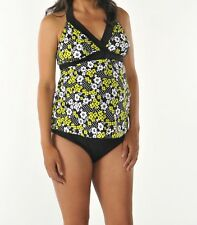 d0cb8f6c6640f Maternity Swimsuit Tankini Prego Size Small NWT 2-piece Print with Black  bottoms