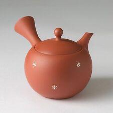 JINSUI - Fukumaru Inka (flower) Japanese Syudei kyusu teapot 270cc ceramic mesh