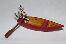Original Wiener Bronze, Katze Ruderboot
