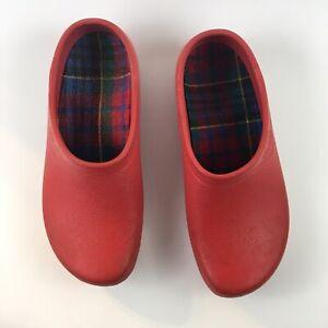 Jolly Fashion By Alsa Red Women's Garden Clogs Size 37-4.5/U.S-6