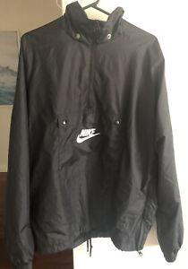 Black Nike Overhead Windbreaker/Jacket, Front Pocket, Size L, WORN ONCE