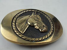 Horse head Solid Brass Belt Buckle 1978 BTS OVER 2 INCHES (10292)