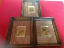 (3) 8x6 Photo Picture Frames Made In Italy Hand Painted