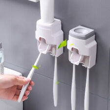 Automatic Toothpaste Dispenser Wall-Mount Bath Lazy Toothbrush Squeezer Holder