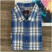 Untuckit Mens Flannel Shirt Size Large Tall Long Sleeve Button Front Casual