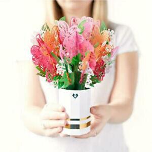 Lovepop - Pink Lily Bouquet - 3D Pop-up Flower Bouquet - NEW