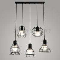 Vintage Retro Lampshade Pendant Trouble Light Bulb Guard Cage Ceiling  H H J