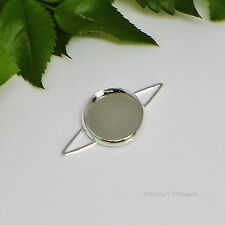 12mm Round Silver Plated Cabochon (Cab) Drop Setting (#A5-41)