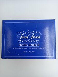 Trivial Pursuit Edition Junior 2 Boite Complementaire Edition Parker Horn Abbot