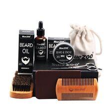 Men Beard Care Set Beard wax Beard oil Brush Comb Scissors Wallet Styling New