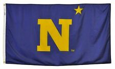 U.S. United States Naval Academy Official Outdoor Dyed Nylon Flag Grommets 3'X5'