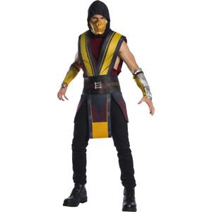 Scorpion Mortal Kombat 11 Adult Costume Combat Ninja Get Over Here Cosplay Game