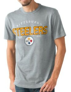 """Pittsburgh Steelers NFL G-III """"Playoff"""" Men's Dual Blend S/S T-shirt - Graphite"""