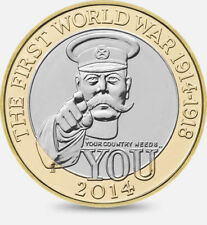 2014 £2 WORLD WAR I CENTENARY 100YRS TWO POUND COIN HUNT 28/32 RARE BIMETAL 2 yy