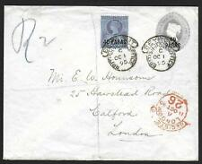 British Levant covers 1895 uprated R-cover BEYROUT to London