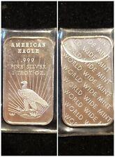 American Eagle 1 Ounce .999 Silver Art Bar World Wide Mint