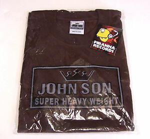 John Son Premium Quality Brown T-Shirt 5XL 100% Cotton Piranha Records