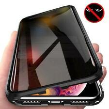 9H Tempered / Anti-Spy Glass & Aluminium 360 Degree Magnetic Case - Apple iPhone