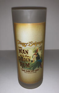 Tommy Bahama Man Golden Rum Highball Drinking Glass Frosted Tom Collins Mojito