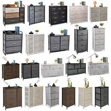 Cerbior Chest of Fabric Drawers Dresser Furniture Bins Bedroom Storage Organizer