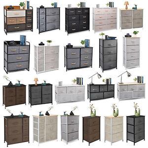 Cerbior Chest of Fabric Drawers Dresser Furniture Bins Bedroom Storage Organizer