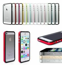 Bumper Case for Apple iPhone 5 / 5S / SE Metal Buttons Hard Plastic Rubber PF-04