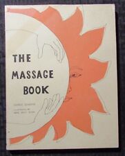 1972 THE MASSAGE BOOK by George Downing 1st Random House Paperback - REVIEW Copy