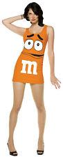 M & M Orange Women's Adult Tank Dress Chocolate Halloween Candy Costume Std 4-10