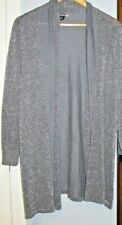 SWEATERWORKS Open Front Cardigan Sweater Grey Sparkle Size Plus 2X