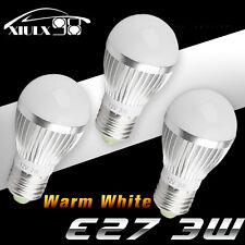 US 3 X New E27 3W Energy Saving LED Light Lamp Cool White 110V Globe Ball Lamp