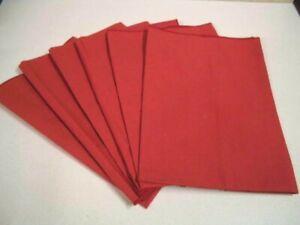 Table Napkins - Set of 6 - Excellent Quality Poly/Cotton - 42cm Square