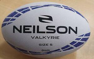 NEILSON VALKYRIE LADIES MATCH TRAINING RUGBY BALL SIZES 5 & 4 PRO MATRIX GRIP