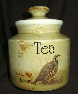Robert Gordon BIRDS TEA CANISTER POT Signed Studio Australian Pottery As New