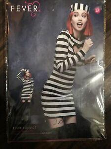 Fever Sexy Convict Costume Smiffys Fancy Dress Prison Ladies medium 12 - 14 uk