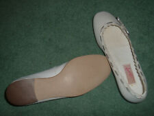new CARVELA sz 3.5 36 white scalloped leather FLAT BALLERINA PUMP SHOES cost £60