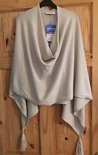 Christa Probst Lovely Beige Poncho/Shawl