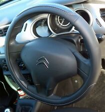 Black Steering Wheel Cover Soft Grip Leather LOOK for CITROEN BERLINGO All Years