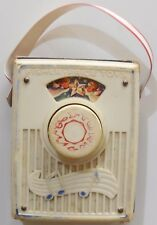 POCKET RADIO  MUSIC BOX FISHER PRICE TOY VINTAGE MUSIC BOX