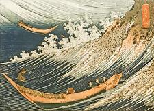 Ocean Waves Hokusai 8x6 Inch Print Japan