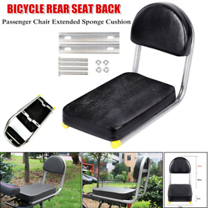 1×Motorcycle Padded Rear Seat Back Rest Passenger Chair Extended Sponge Cushion