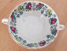 Royal Cauldon China Victoria pattern two handed soup bowl
