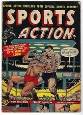 Sports Action #9 - Joe Maneely cover - Jackie Robinson, Dom Dimaggio  story -TGL