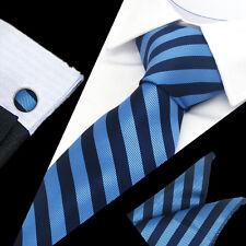 Hot Mens 100% Silk Ties Wedding Party Neckties Tie+Hanky+Cufflinks Sets TS-1140