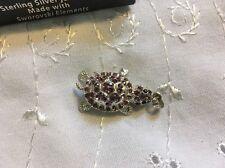 Sparkling Swarovsky Turtle Pendant Only  Sterling