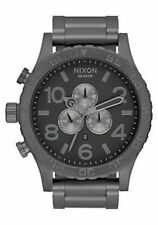 New Authentic Nixon 51-30 Chrono Gunmetal / Black Watch A083-632 A083632
