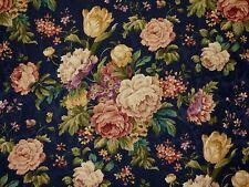 Mill Creek Floral INDIGO Blue Home Decor Cotton Jacquard Drapery Sewing Fabric