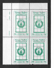 1996 Usa Cinderella Xmas Block Of Four Stamps - Hungry Buffalo.