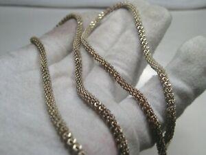 "Vintage Sterling Silver 24"" Necklace 3mm 22.5g.  #49"